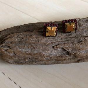 Sorrelli Game Day Earrings FSU Garnet and Gold